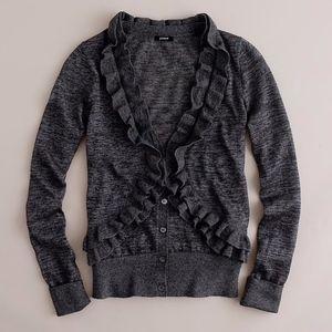 J Crew Heather Gray Traversa Cardigan Sweater XS